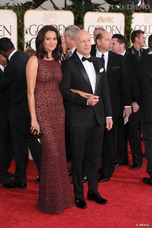 Bruce Willis, élégant en noeud pap'.