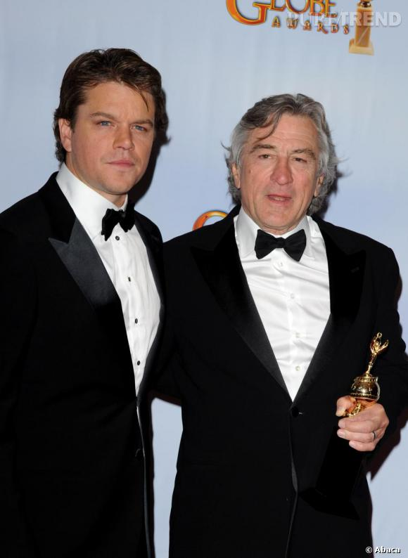 Matt Damon et Robert de Niro aux Gloden Globes.