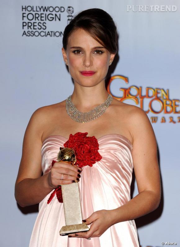 Natalie Portman à la 68ème cérémonie des Golden Globes, à Los Angeles.
