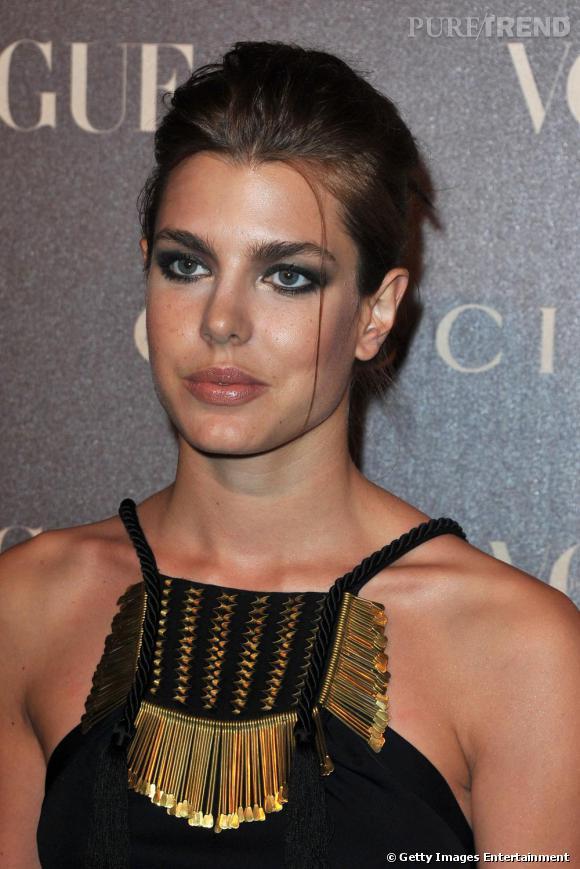 Charlotte Casiraghi invitée à la soirée Gucci et Vogue Magazine.