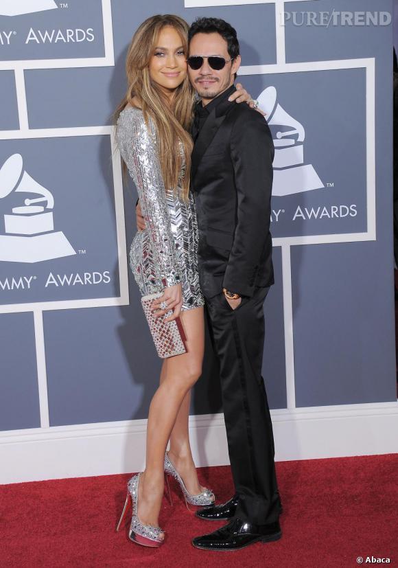 Marc Anthony et son épouse Jennifer Lopez, très bling bling en Emilio Pucci.