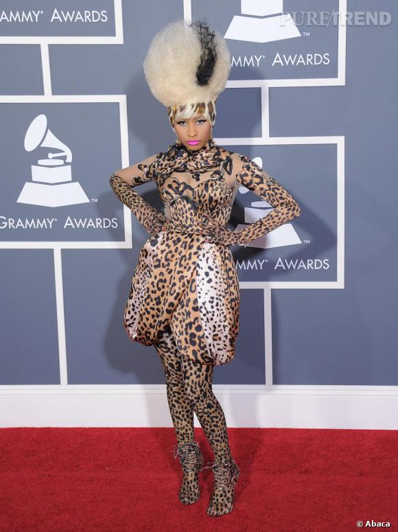 Nicki Minaj joue les tigresses en Givenchy Couture automne 2007.