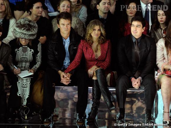 Fergie et son compagnon, à la Fashion Week de New-York, le 14 février.