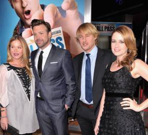 Christina et ses partenaires Jason Sudeikis, Owen Wilson et Jenna Fischer.