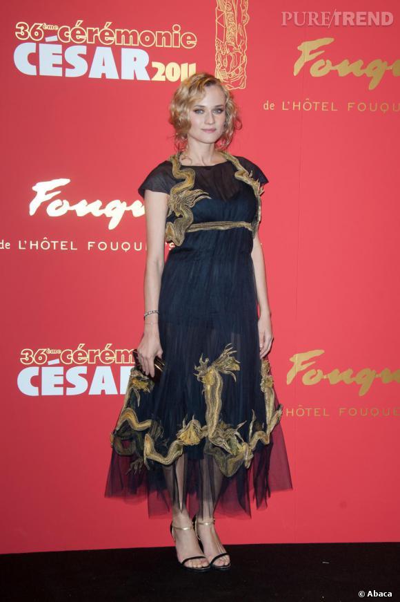 Diane Kruger à la 36e cérémonie des César, vendredi 25 février 2011.
