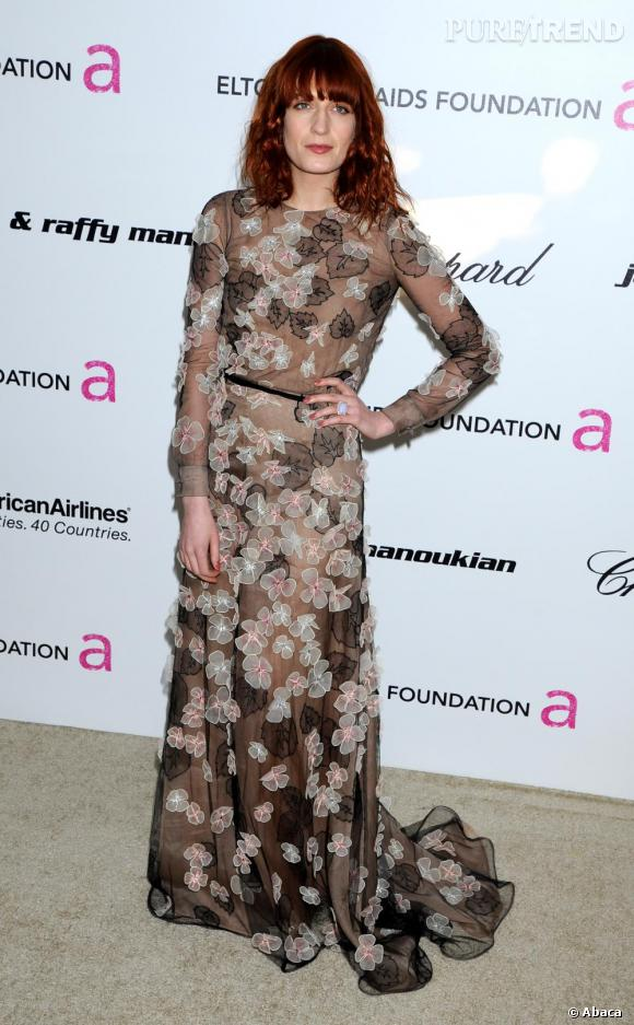 Florence Welch à la soirée Chopard pour la Fondation Elton John, à Los Angeles.