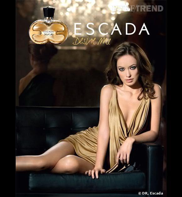 Pour représenter le parfum Desire Me d'Escada, Olivia Wilde sort le grand jeu.