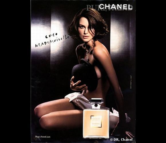 Keira Knightley, nue pour la campagne de pub Coco Mademoiselle en 2007
