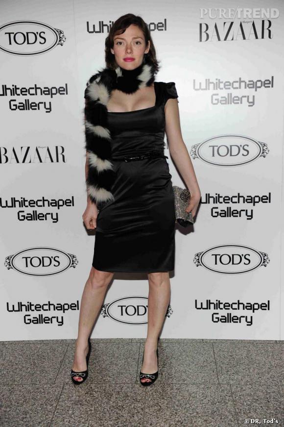 Camilla Rutherford à la soirée Tod's Art Plus Drama à Londres.