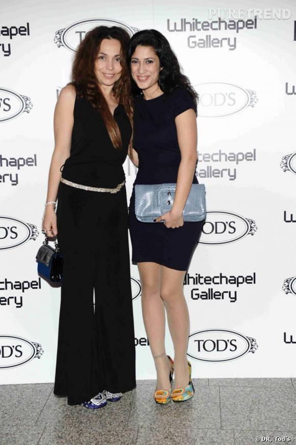 Jeanne Marine et Fatima Bhutto à la soirée Tod's Art Plus Drama à Londres.