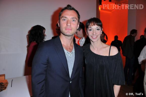 Jude Law et Marta Romagna à la soirée Tod's Art Plus Drama à Londres.