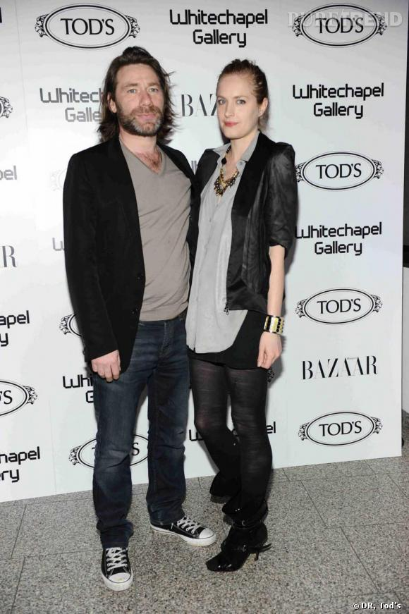 Matt Collishaw et Polly Morgan à la soirée Tod's Art Plus Drama à Londres.