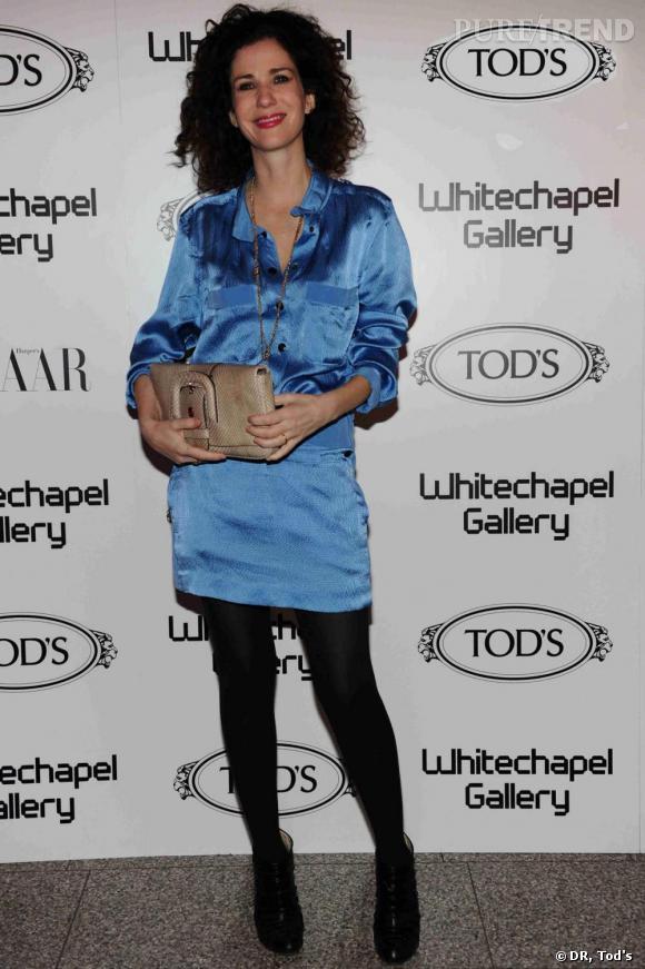 Mollie Dent-Brocklehurst à la soirée Tod's Art Plus Drama à Londres.