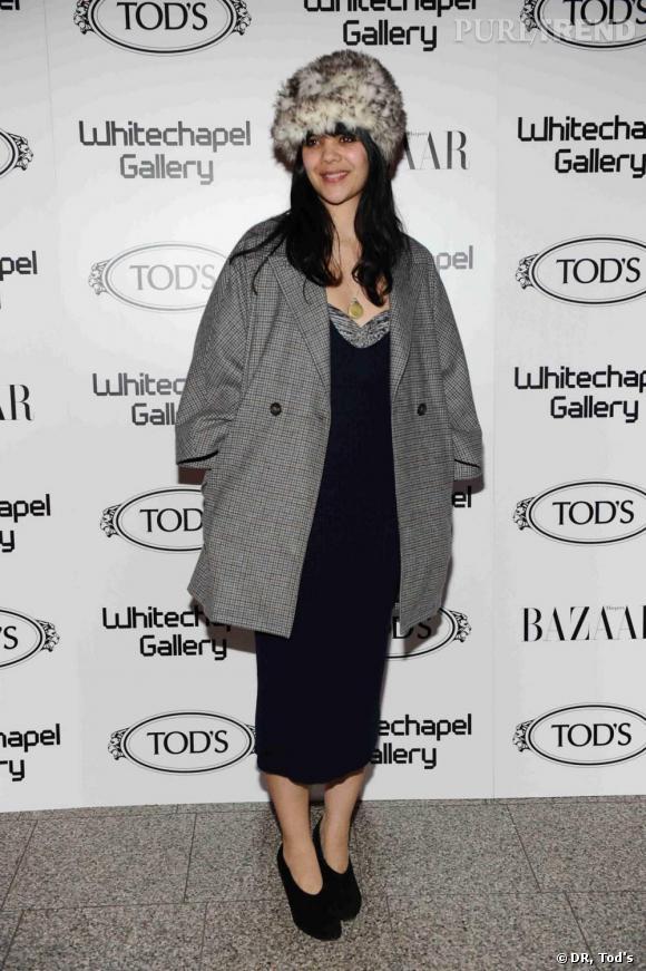 Natasha Khan à la soirée Tod's Art Plus Drama à Londres.