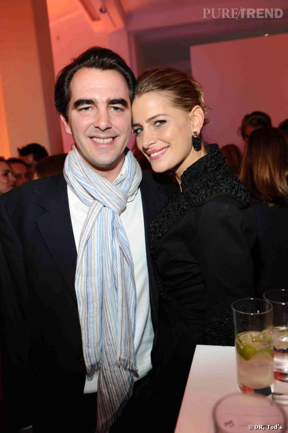 Le Prince Nikolaos et la princesse Tatiana de Grèce à la soirée Tod's Art Plus Drama à Londres.