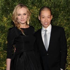 Diane Kruger au côté de Jason Wu.