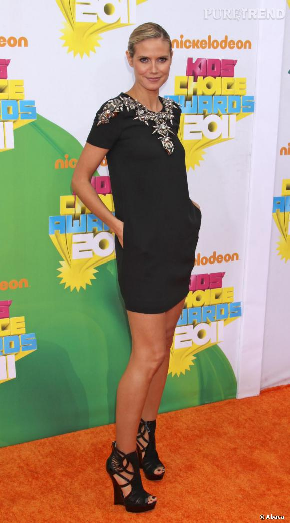 Heidi Klum lors des 24e Kids Choice Awards à Los Angeles.