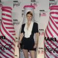 Audrey Marnay montre ses jambes à la soirée Coca et Karl Lagerfeld, cette semaine.