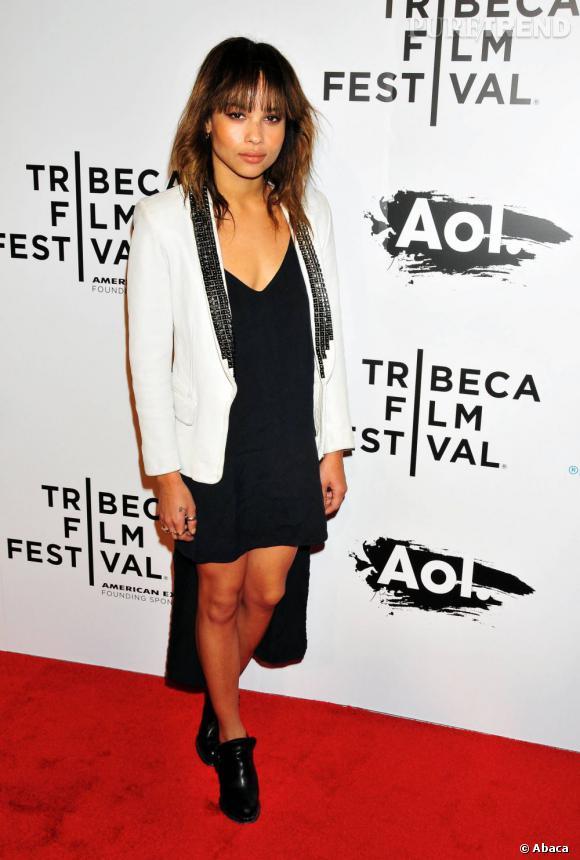 Zoë Kravitz lors de la soirée d'ouverture du Festival du Film de Tribeca à New York.