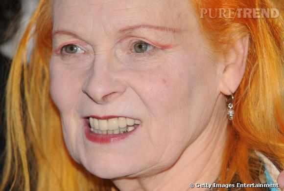 Le sourire mauvais Partie II :  Vivienne Westwood est-elle contente ou pas du tout ? A vos votes.
