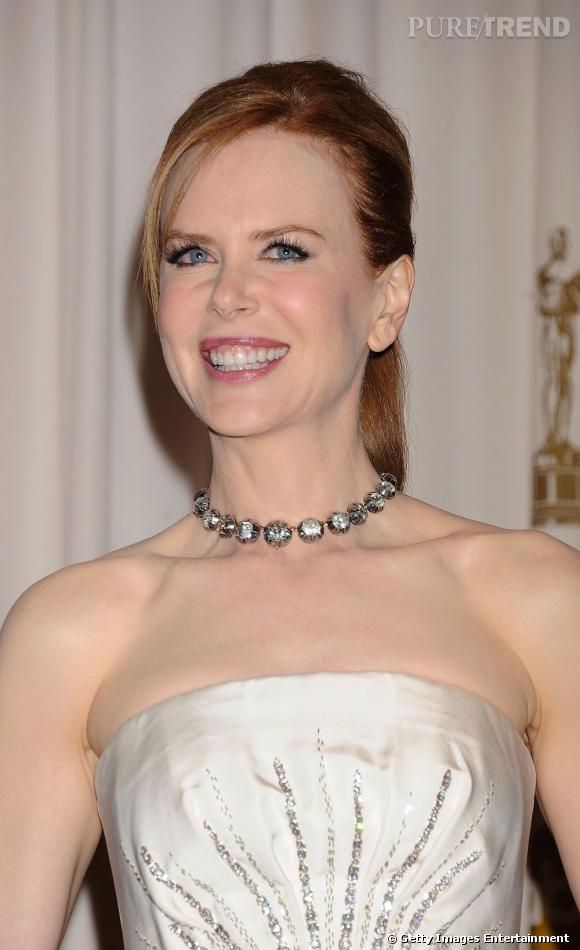 """Le sourire """"trop de chirurgie tue la chirurgie"""" :  la preuve avec Nicole Kidman qui détient des lèvres très... gonflées."""