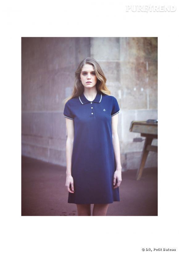 602641a719160 Le polo Petit Bateau version robe-polo pour les femmes - Puretrend