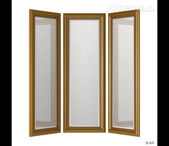 miroir ikea un miroir en tryptique pour s 39 exercer dans sa chambre prix 147. Black Bedroom Furniture Sets. Home Design Ideas