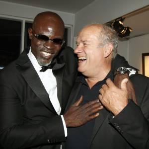 L'acteur Djimon Hounsou et le photographe Peter Lindbergh ont visiblement l'air de s'amuser.