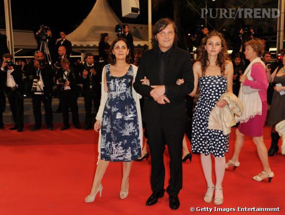 """La famille Kusturica lors de la première du film """"Le Havre""""."""