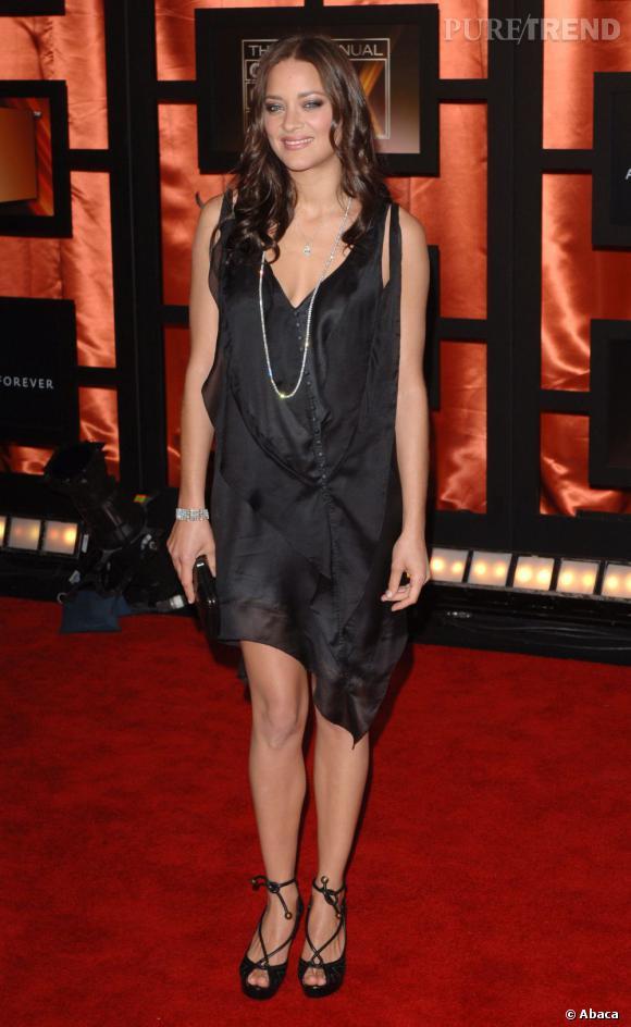 2008 :    Robe ample pour la désormais égérie Dior. Plus chic, plus  audacieuse, Marion Cotillard fait de l'effet, même la plastique floutée.