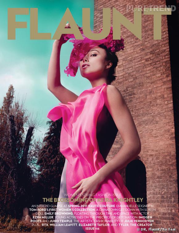 Keira Knigthley en couverture du mois de juin de Flaunt.