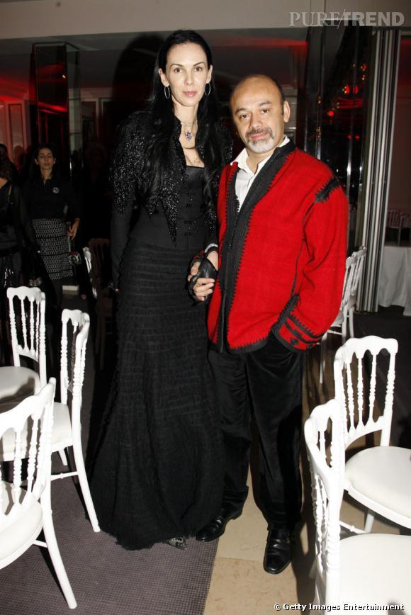 Christian Louboutin et la styliste L'Wren Scott.