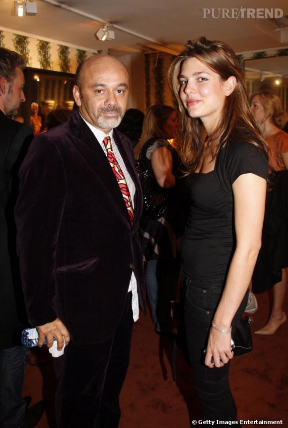 Christian Louboutin et Charlotte Casiraghi.