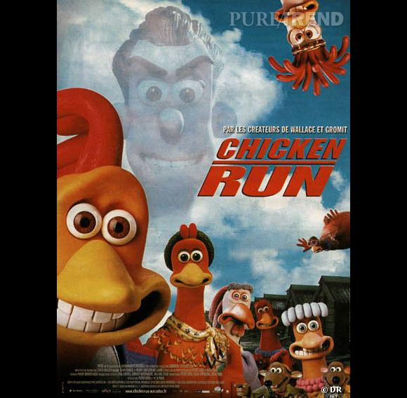 Rocky le poulet, au premier plan, doublé par Mel Gibson.