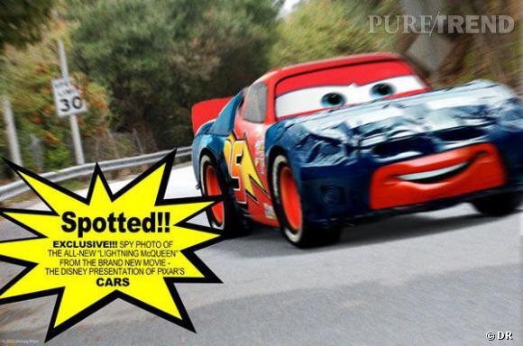 """Lightning McQueen, la voiture de référence dans le film d'animation """"Cars"""", doublée par Owen Wilson."""
