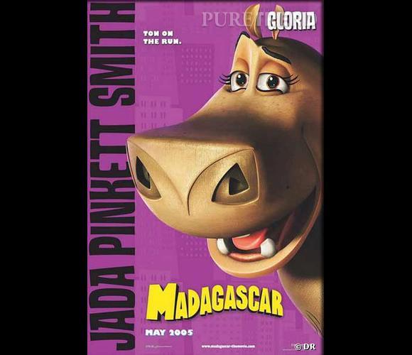 """Gloria, le bel hippopotame qui prend la voix de Jada Pinkett Smith dans """"Madagascar"""". Oui, parfois, le personnage ne colle pas au timbre."""
