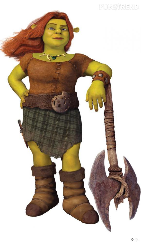 Princesse Fiona, une belle ogresse verte aux courbes volumineuses, interprétée par Cameron Diaz.