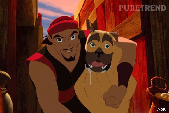 """Sinbad et son chien, dans """"Sinbad, la légende"""". on a beau chercher, on ne trouve aucune ressemblance avec Brad Pitt."""