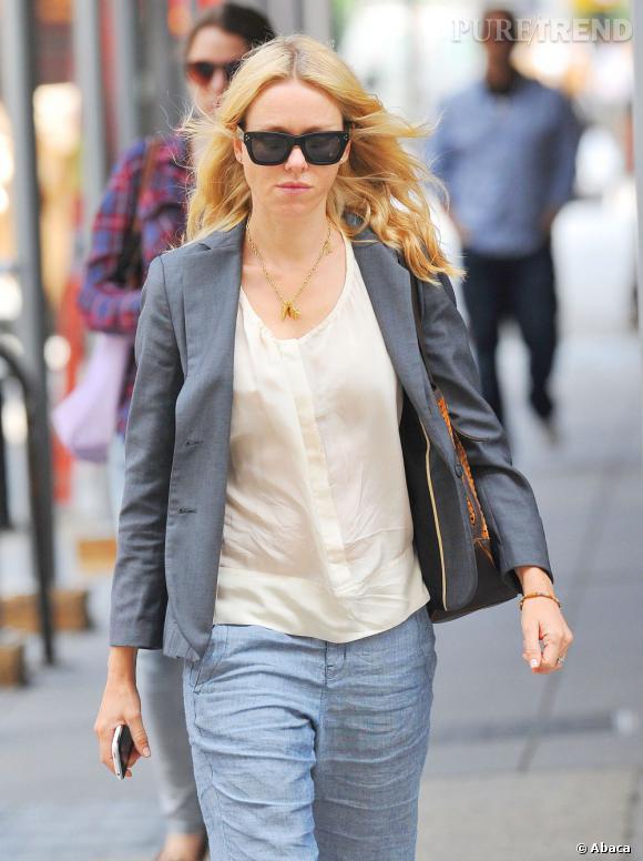 Naomi Watts dans les rues de New York.