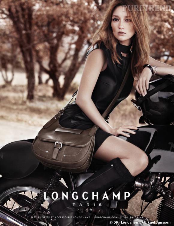 Audrey Marnay pour Longchamp, automne-hiver 2011/2012.