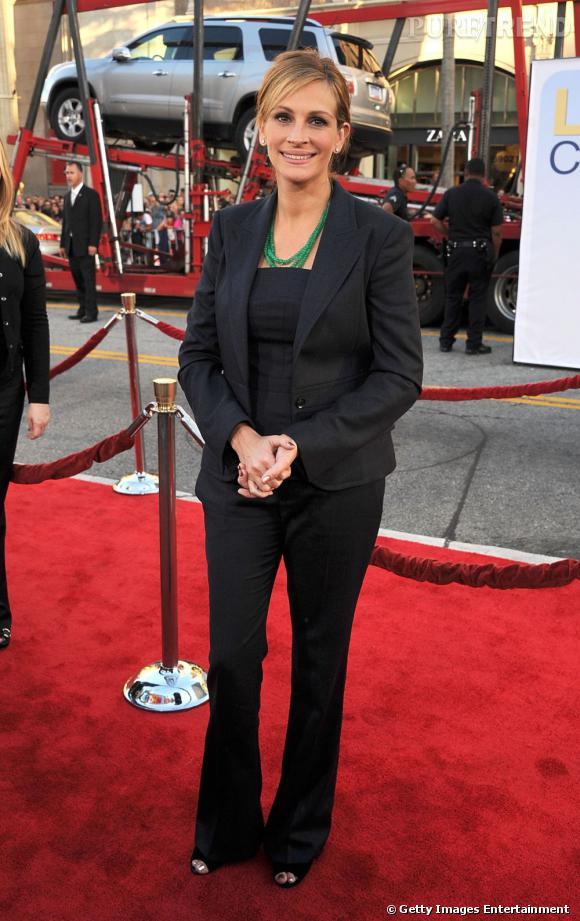 """Julia Roberts, sacré coup de vieux à l'avant-première de """"Larry Crowne"""" à Los Angeles."""