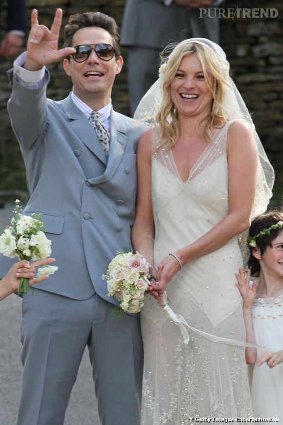 Jamie Hince et Kate Moss, un mariage rock'n'roll.