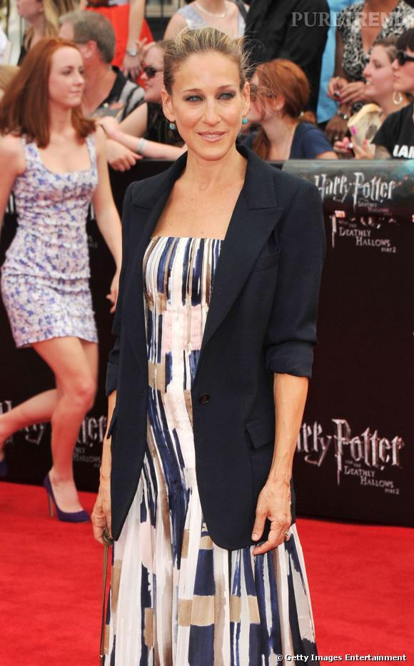 """Sarah Jessica Parker à la première du dernier """"Harry Potter"""", à Londres."""