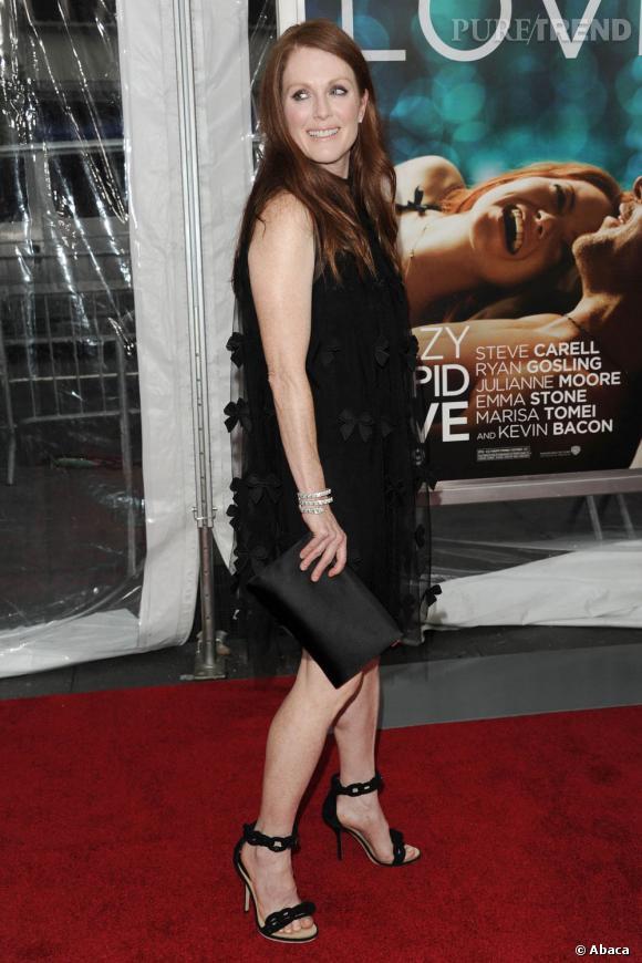 """Julianne Moore à la première de """"Crazy Stupid Love"""", à New York."""