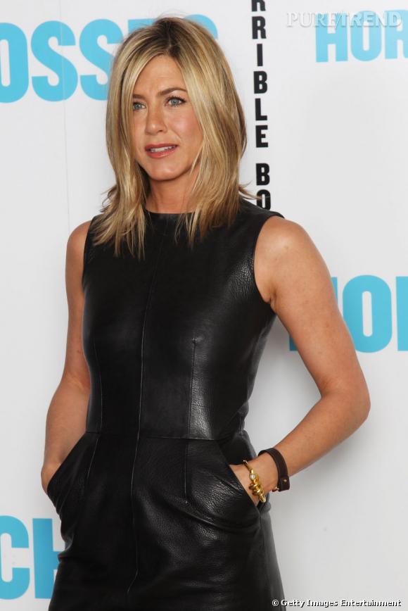 """Jennifer Aniston présente le film """"Comment tuer son boss ?"""", à Londres."""