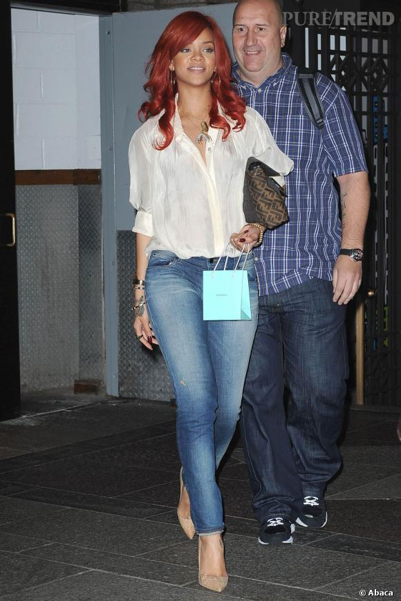 Rihanna, élégante et sexy dans les rues de New York.