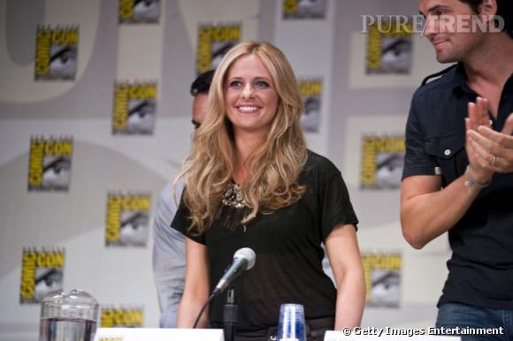 """Sarah Michelle Gellar présente """"Ringer"""" au Comic-Con 2011 de San Diego."""