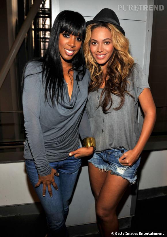 Kelly Rowland et Beyonce à la soirée Kanye West/Jay-Z à New York.