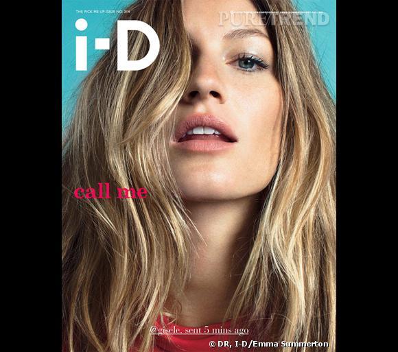 Gisèle Bundchen, belle au naturel pour la couverture de septembre du magazine I-D.
