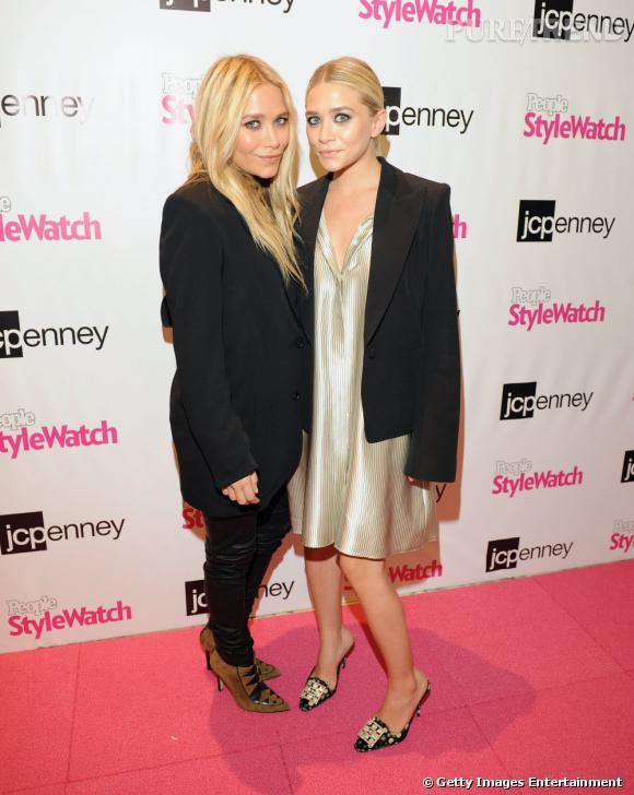 Mary Kate et Ashley Olsen à la Fashion's Night Out de New York.